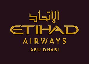 Etihad Airways - Image: Etihad Airways Abu Dhabi Master Logo Eng