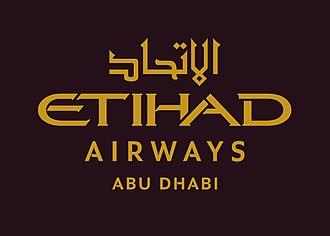 Etihad Airways - Image: Etihad Airways Abu Dhabi Master Logo Eng
