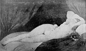 La Dormeuse de Naples (painting) - Photograph of a study for the painting