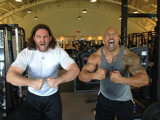 Evan Mathis and Dwayne Johnson