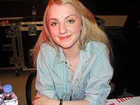 Evanna Lynch at HBP signing in London - Dec 09.jpg