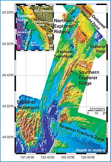 Explorer Ridge A mid-ocean ridge west of British Columbia, Canada