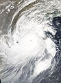 Extremely Severe Cyclonic Storm Fani approaching the Odisha Coast near peak intensity with 3-minute sustained winds of up to 130 mph 215 kmh and 1-minute sustained winds of up to 155 mph 205 kmh.jpg