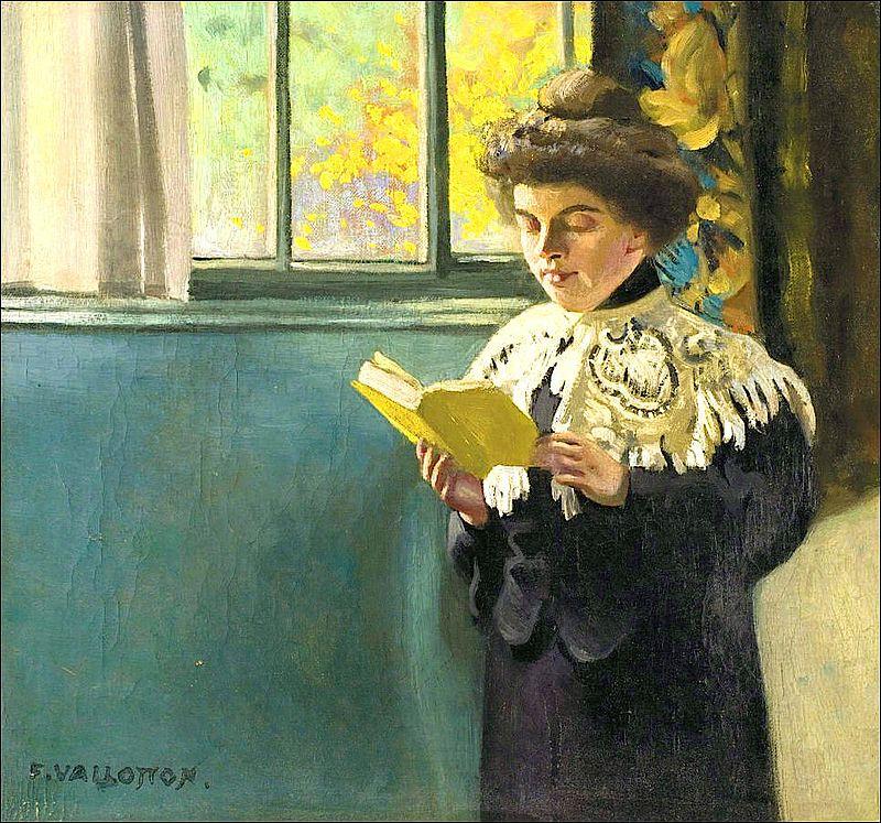 Félix Vallotton, 1904c - Femme lisant à la fenêtre.jpg