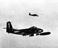 F2H Banshees of VF-11 with bombs over Korea c1952.jpg