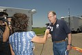 FEMA - 37351 - FEMA's Don Jacks being interviwed by a local TV station in Texas.jpg