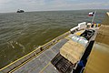 FEMA - 38637 - Ferry with hay for cattle heads to the Bolivar Peninsula.jpg