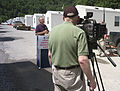 FEMA - 41546 - FEMA meets press at first community site opened in West Virginia.jpg