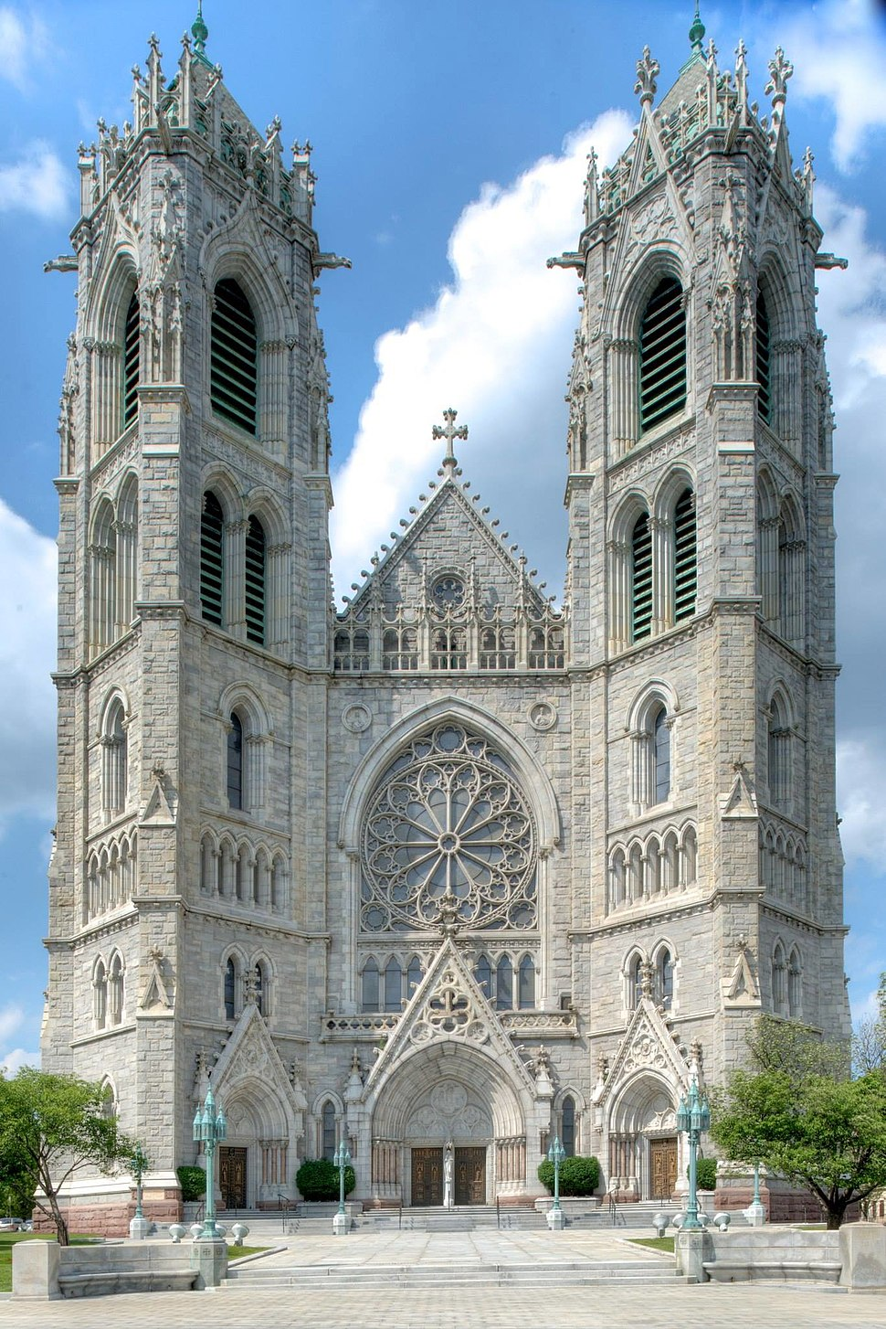 Facade of Sacred Heart Cathedral, Newark