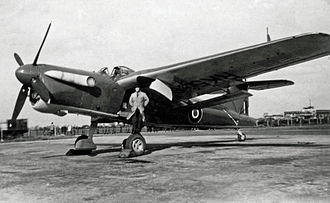 Fairey Aviation Company - Stockport/Ringway-built Fairey Barracuda TF.V at Manchester Airport in May 1946