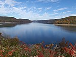 A photo of Allegheny Reservoir in fall.