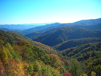 Ocanaluftee Overlook, along Newfound Gap Road ...