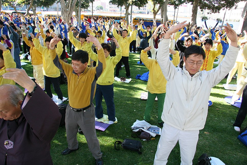 Falun Dafa the second exercise, standing meditation
