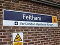 Feltham station signage 2011.JPG