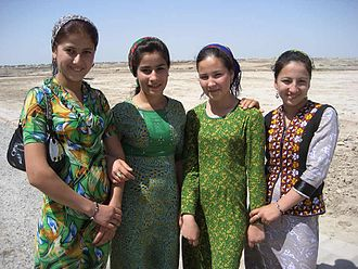 Turkmens - Girls in Turkmenistan in 2011