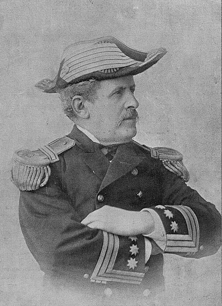 Fernando Villaamil, credited as the inventor of the destroyer concept, died in action during the Battle of Santiago de Cuba in 1898