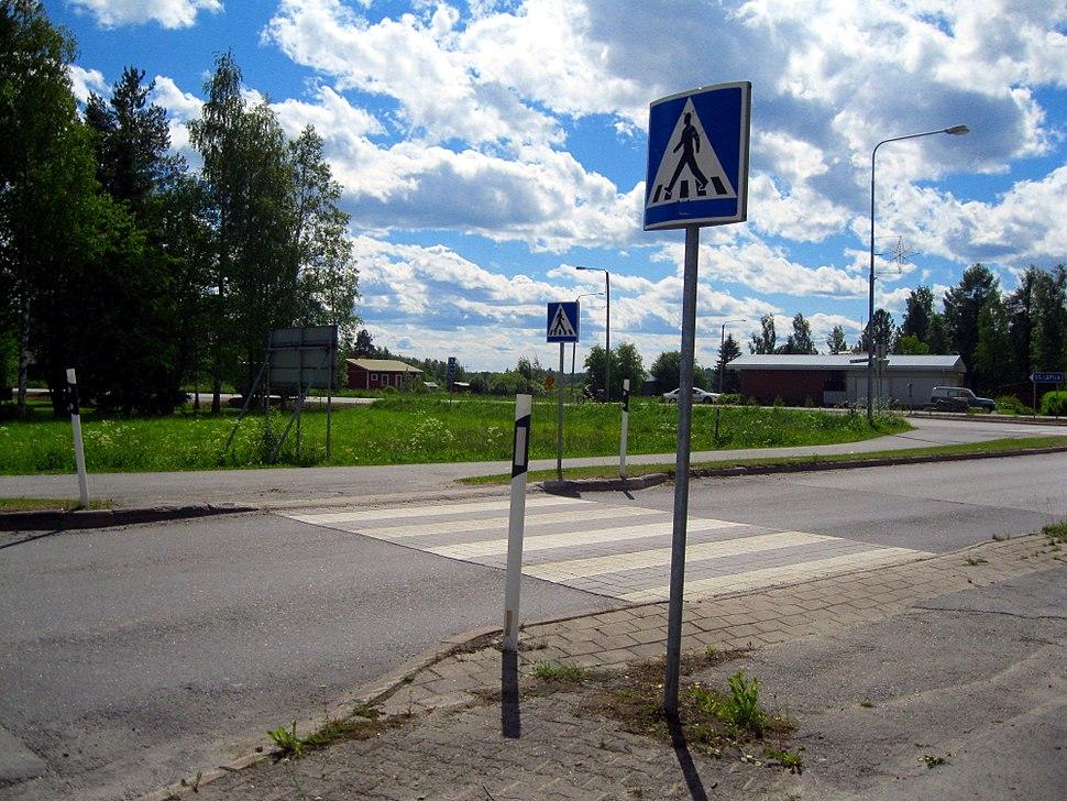 Finnish pedestrian crossing in Vimpeli