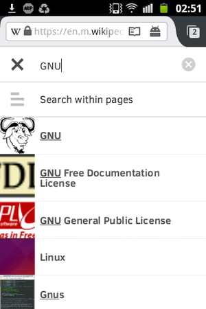 Firefox for Android - Search suggestions also work in Firefox.