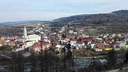 First View on the town Krasno nad Kysucou, Slovakia.jpg