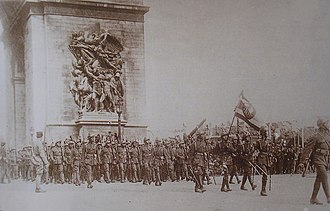 Royal Thai Armed Forces - The Siamese Expeditionary Force in Paris, 1919.
