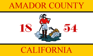 Flags of counties of the United States - Image: Flag of Amador County, California