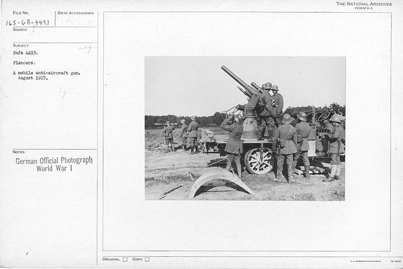 File:Flanders. A mobile anti-aircraft gun. August 1917 - NARA - 17390956.jpg