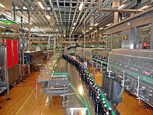 Flensburger Brauerei - Bottling plant for swing-top bottles in the Flensburger Brauerei