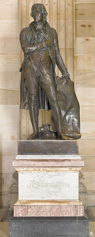 Uriah P. Levy - Statue of Jefferson in the Capitol.
