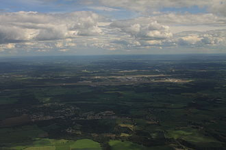 Oslo Airport, Gardermoen - Oslo Airport seen on flyby