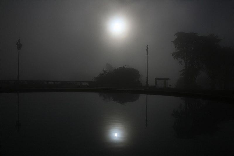 File:Foggy solar coronae and reflection.jpg