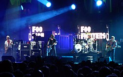 Foo Fighters en un concierto, 2007.