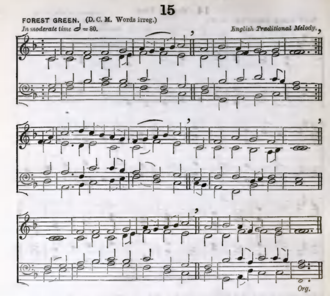 """O Little Town of Bethlehem - """"Forest Green"""", from the English Hymnal, 1906"""