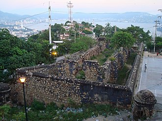 Battle of Acapulco - One of the Acapulco Forts that survived the bombardment.