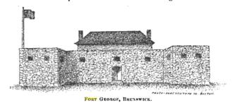 Fort George (Brunswick, Maine) - Fort George, Brunswick, Maine c. 1715