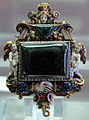 Francia (parigi), ciondolo di caterina de' medici, smeraldo, 1571.JPG