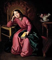 Francisco de Zurbarán: The Child Virgin Asleep