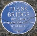 Frank Bridge 4 Bedford Gardens blue plaque.jpg