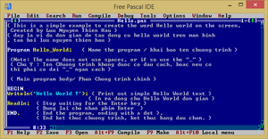 Free Pascal IDE 3.0.4 trên Windows 8.1