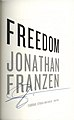 Freedom (2010 title page, signed by Jonathan Franzen).jpg