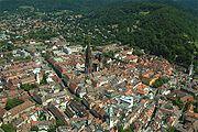 Luftaufnahme Innenstadt von Südwesten aus