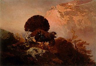 Verismo (painting) - Image: Friedrich Gauermann Divji petelin