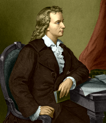 Friedrich von Schiller Coloured Drawing