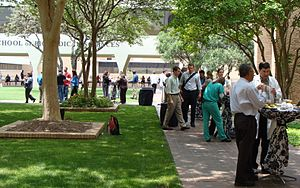 University of Texas Health Science Center at San Antonio - Main (Long) campus GSBS courtyard.