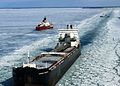 Frozen Lake Huron- icebreakers and commercial vessels.jpg