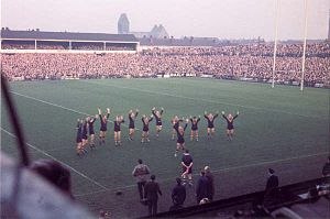 Swinton, Greater Manchester - Test match between Great Britain and Australia at Station Road in November 1963