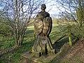 GOC Willian & Weston Hills 113 Telford Morton memorial, Manor Wood, Willian (20999414506).jpg