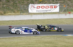 Reiter Engineering - Reiter's Murciélago leading a Zakspeed Saleen S7-R at Oschersleben.