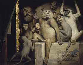 Gabriel Cornelius von Max, 1840-1915, Monkeys as Judges of Art, 1889.jpg