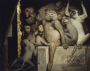 Art criticism - Monkeys as Judges of Art, 1889, Gabriel von Max