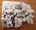 Gandhara, frammento di rilievo con due buddha e bodhisattva maitreya.JPG
